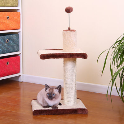 Carpet and Sisal Scratcher with Teaser