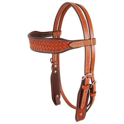 Cashel® Chestnut Basket Stamp Headstall