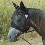 Cashel Crusader Black Quiet-Ride Fly Mask with Ears