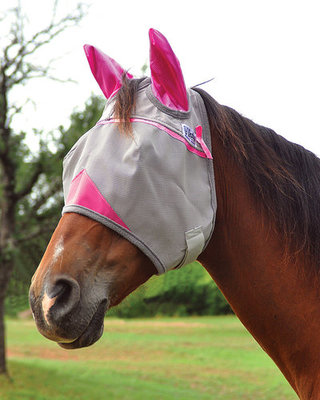 Cashel Crusader Breast Cancer Research (Pink) Fly Mask with Ears