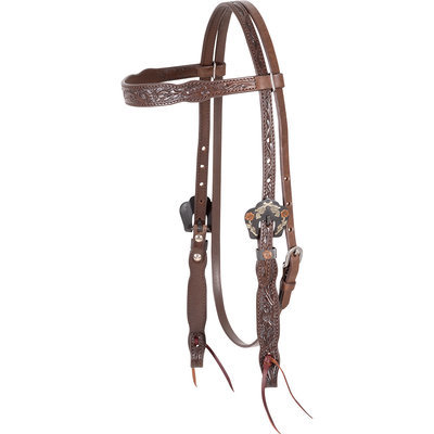 Cashel Guns & Roses Browband Headstall