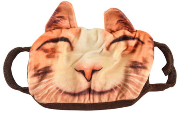 Cat Face Cloth Face Mask (PPE), Adult