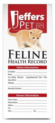 Cat Health Records, 10 pk