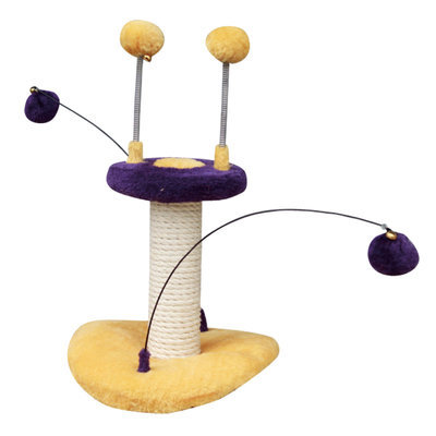 Cat Toy with Sisal Posts & Teasers