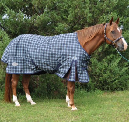 Centaur 1200D Std. Neck Heavy Blanket, Blue Corn Plaid