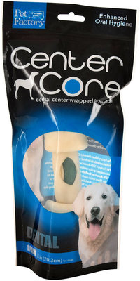 """Center Core  8-9"""" Beefhide-Wrapped Dental Chew, Single"""