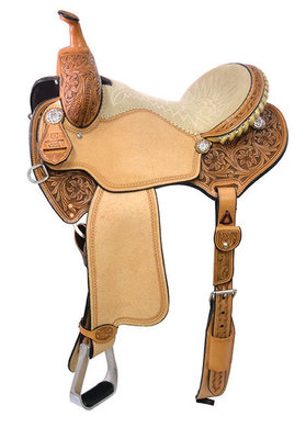 Charmayne James C11 Record Breaker Barrel Saddle, Regular Tree, Old West