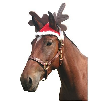 Christmas Reindeer Cap (for Horse)