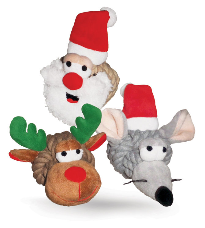 Christmas Rope Heads Dog Toys 4 Jeffers Pet