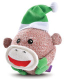 Christmas Sock Monkey Squeaky Head