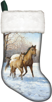 Horse Scene Christmas Stockings (Assorted)