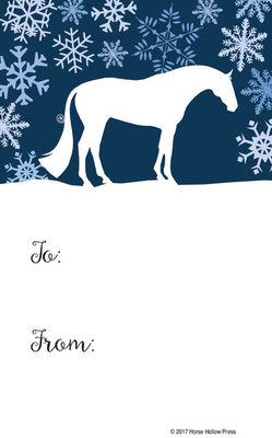 Horse-Themed Christmas Gift Tags, 12-Pack