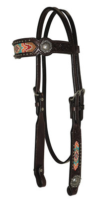 Circle Y Beaded Inlay Headstall
