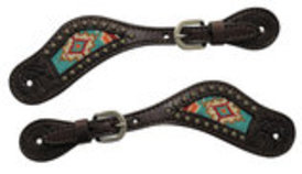 Circle Y Beaded Inlay Spur Straps