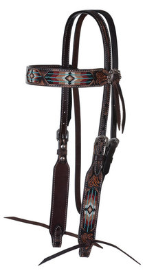 Circle Y Beaded Southwest Browband Headstall