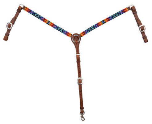 Circle Y Colorful Infinity Wrap Beaded Breast Collar