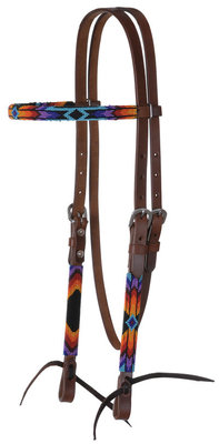 Circle Y Colorful Infinity Wrap Beaded Browband Headstall