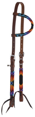 Circle Y Colorful Infinity Wrap Beaded One Ear Headstall