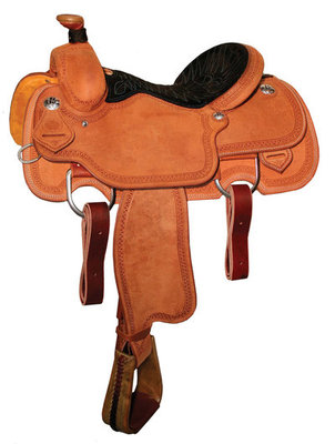 Circle Y Dinero Calf Roping Saddle, Wide Tree