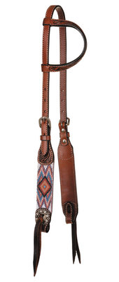Circle Y Infinity Beaded Aztec One Ear Headstall