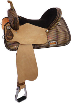 Circle Y Mercedes Barrel Saddle, Wide Tree