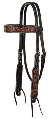 Circle Y Multi-Tone Filigree Headstall