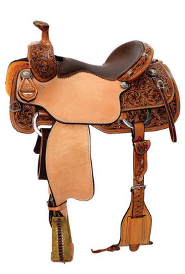 Circle Y Reinsman Arizona Flower Roper Saddle, Regular Tree, Old West