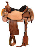 Circle Y Reinsman Box Stamped Roper Saddle, Wide Tree, Old West