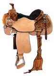 Circle Y Reinsman Roughout Roper Saddle, Regular Tree, Old West