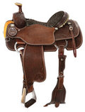 Circle Y Reinsman Team Roper Saddle, Wide Tree