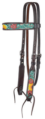 Circle Y Rising Sunflower Browband Headstall