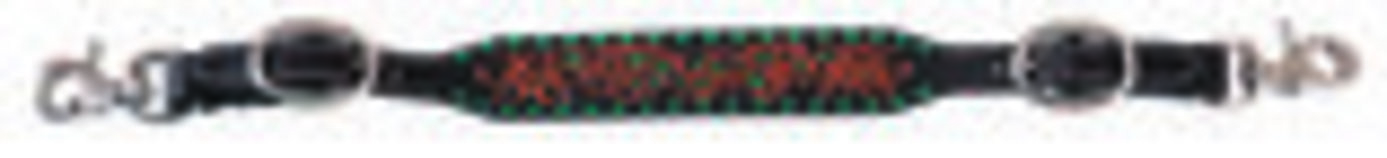 Circle Y Turquoise Buckstitch Wither Strap