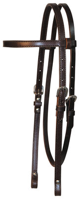 Circle Y Walnut Browband Headstall