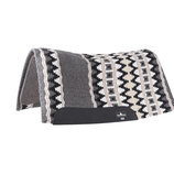 Classic Equine Contour Wool Top Pad, Black/Gray
