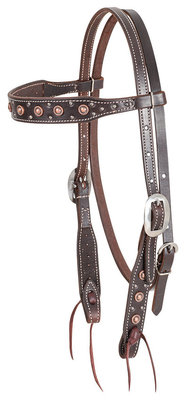 Classic Equine Copper Dot Browband Headstall