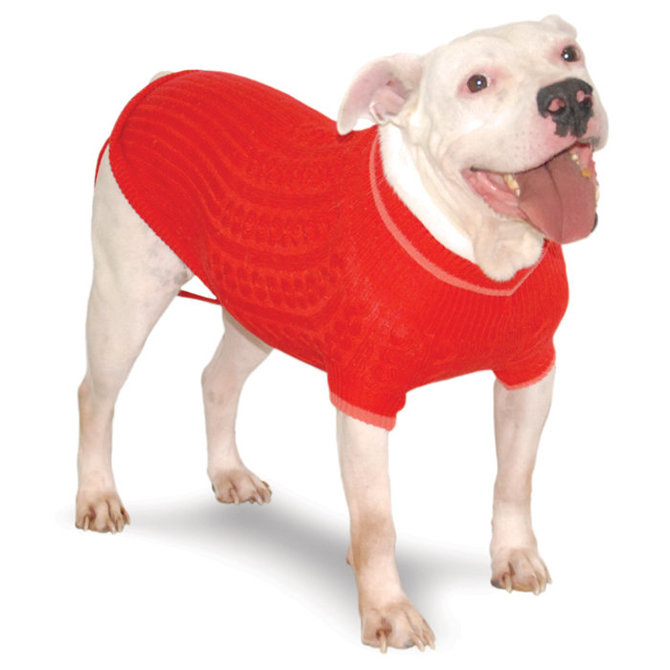 Classic Cable Dog Sweater Xx Large Jeffers Pet