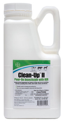 Half Gallon Clean-Up II Pour-On Insecticide with IGR