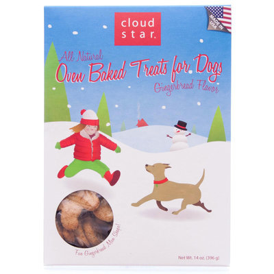 Cloud Star Holiday Oven Baked Gingerbread Buddy Biscuits, 14 oz