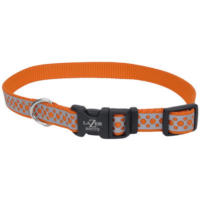 "Lazer Brite Dog Collar, 12""-18"" x 5/8"""