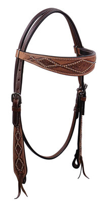 Cody Pro Diamond Tooled Browband Headstall