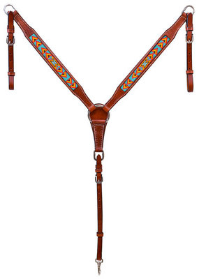 Cody Pro Native American Beaded Breast Collar, Turquoise