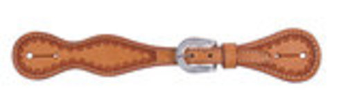 Cody Pro Tooled Spur Straps