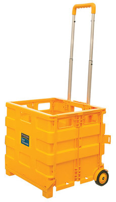 Collapsible Plastic Yellow Cart