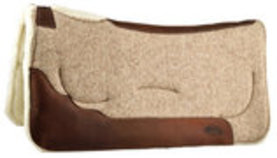 Contoured Shock-Absorbing Gel Wool Saddle Pad, Merino Wool