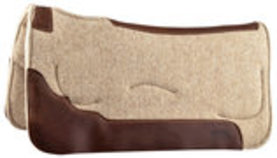 Contoured Shock-Absorbing Gel Wool Saddle Pad