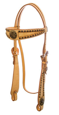 Copper Roughout Browband Headstall