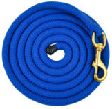 "Cotton Lead Rope, 3/4"" x 10'L w/ brass bolt snap"