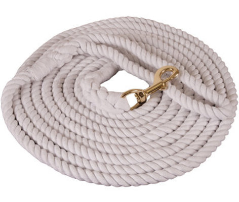 """Cotton Lunge Line, 1/2"""" x 25' w/ brass-plated bolt snap"""
