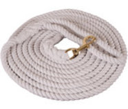 "Cotton Lunge Line, 1/2"" x 25' w/ brass-plated bolt snap"