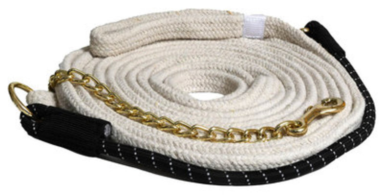 Cotton Lunge Line w/ Bungee & Chain